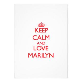 Keep Calm and Love Marilyn Cards