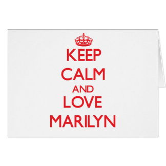 Keep Calm and Love Marilyn Greeting Card