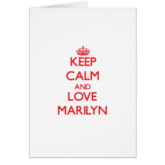 Keep Calm and Love Marilyn Greeting Cards