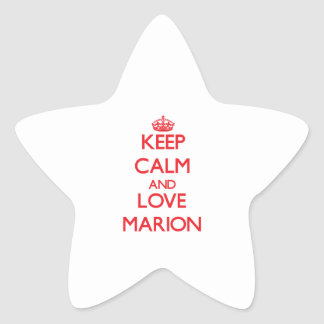 Keep Calm and Love Marion Star Sticker