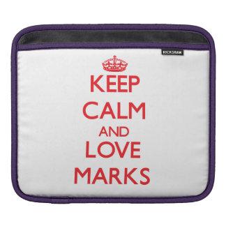 Keep calm and love Marks iPad Sleeves