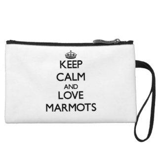 Keep calm and Love Marmots Wristlet Purse