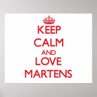 Keep calm and love Martens Print