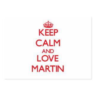 Keep calm and love Martin Business Card