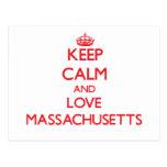 Keep Calm and Love Massachusetts Postcard