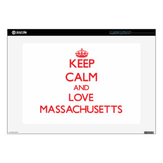 Keep Calm and Love Massachusetts Skins For Laptops