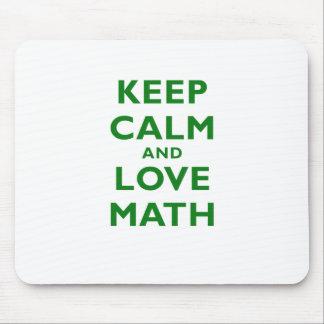 Keep Calm and Love Math Mouse Pad