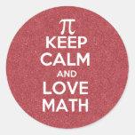 Keep Calm and Love Math Sticker