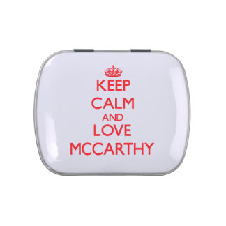 Keep calm and love Mccarthy Jelly Belly Tins