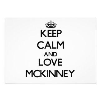 Keep Calm and love Mckinney Custom Invite