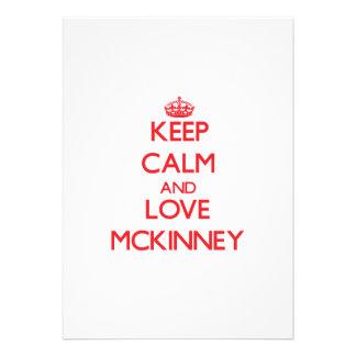 Keep calm and love Mckinney Invitations