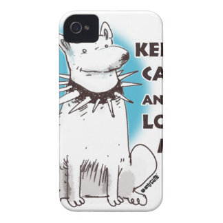 keep calm and love me cartoon style illustration iPhone 4 cover