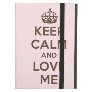 Keep calm and love me iPad air case