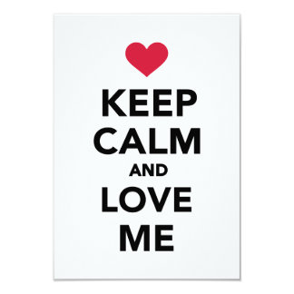 Keep calm and Love me Personalized Invite