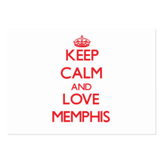 Keep Calm and Love Memphis Business Card Template