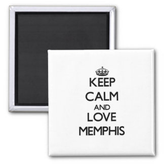 Keep Calm and love Memphis Refrigerator Magnets