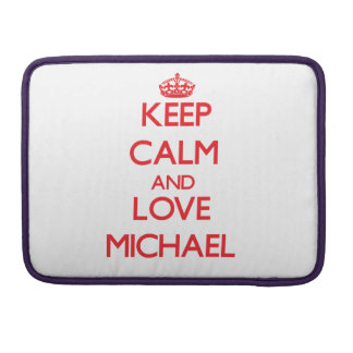 Keep calm and love Michael Sleeve For MacBooks