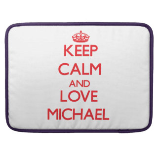 Keep calm and love Michael MacBook Pro Sleeves