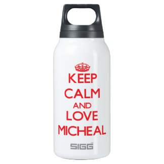 Keep Calm and Love Micheal 10 Oz Insulated SIGG Thermos Water Bottle