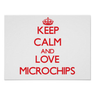 Keep calm and love Microchips Poster