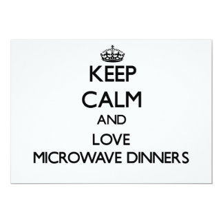 Keep calm and love Microwave Dinners Personalized Invite