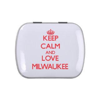 Keep Calm and Love Milwaukee Candy Tin