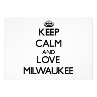 Keep Calm and love Milwaukee Custom Invitation