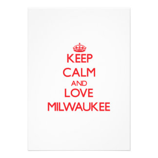 Keep Calm and Love Milwaukee Invite