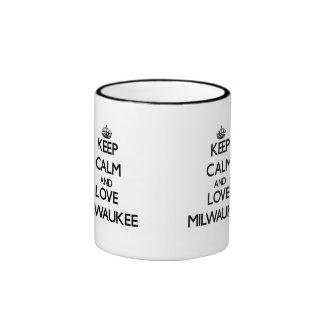 Keep Calm and love Milwaukee Ringer Coffee Mug