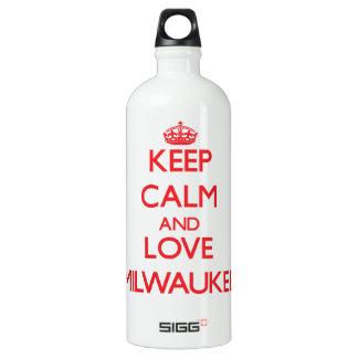 Keep Calm and Love Milwaukee SIGG Traveler 1.0L Water Bottle
