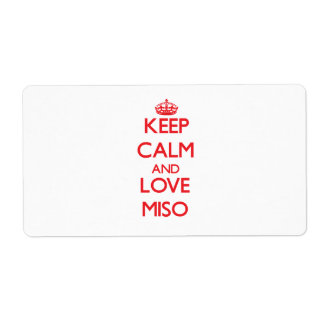 Keep calm and love Miso Shipping Label