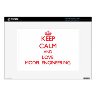 Keep calm and love Model Engineering Decals For Netbooks
