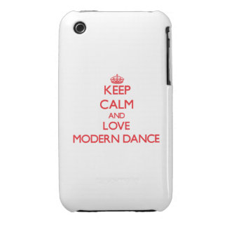 Keep calm and love Modern Dance Case-Mate iPhone 3 Cases