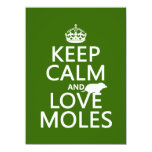 Keep Calm and Love Moles (any background color) Personalized Announcements