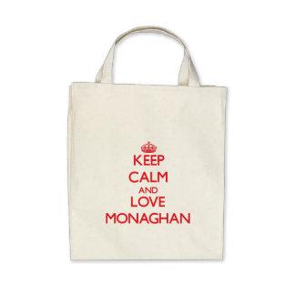 Keep calm and love Monaghan Canvas Bags