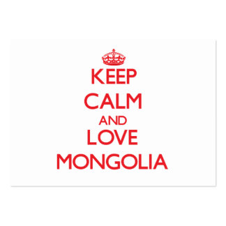 Keep Calm and Love Mongolia Large Business Cards (Pack Of 100)
