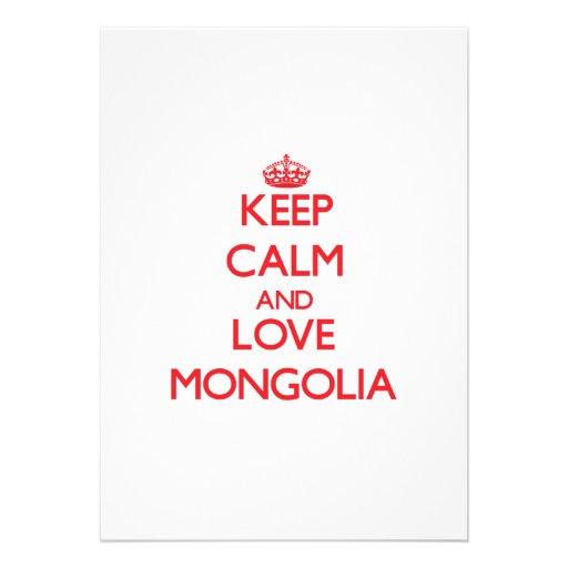 Keep Calm and Love Mongolia Invitation