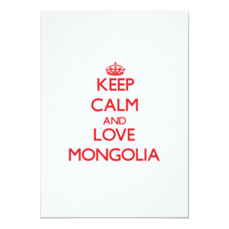 Keep Calm and Love Mongolia 5x7 Paper Invitation Card