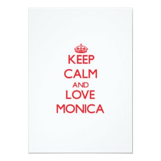 Keep Calm and Love Monica Personalized Invites