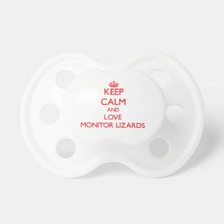 Keep calm and love Monitor Lizards Baby Pacifiers