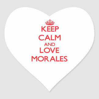 Keep calm and love Morales Heart Sticker