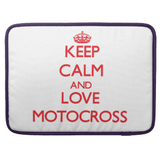 Keep calm and love Motocross Sleeve For MacBook Pro