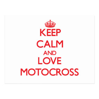 Keep calm and love Motocross Post Cards
