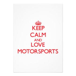 Keep calm and love Motorsports Invitation