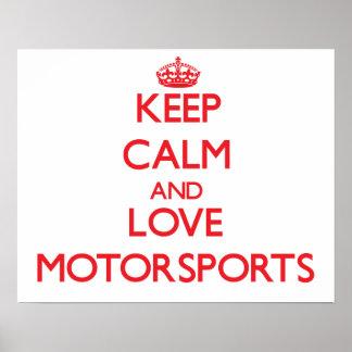 Keep calm and love Motorsports Print