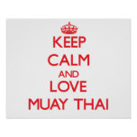 Keep calm and love Muay Thai Poster