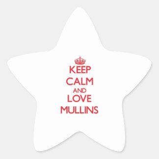 Keep calm and love Mullins Star Sticker