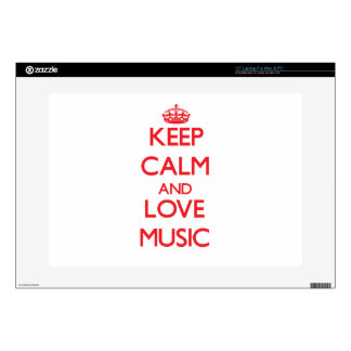 Keep calm and love Music Laptop Decal