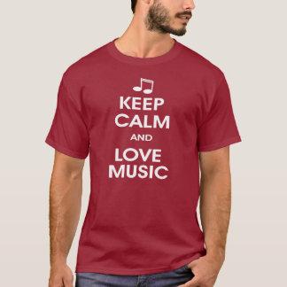 Keep calm and love music T-Shirt