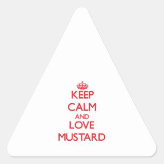 Keep calm and love Mustard Sticker